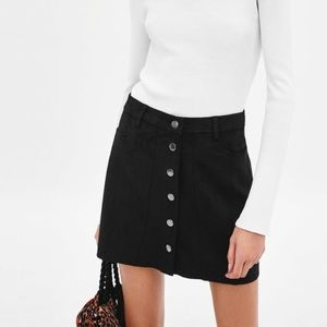 Zara suede mini skirt